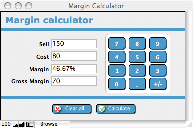 profit margin spreadsheet