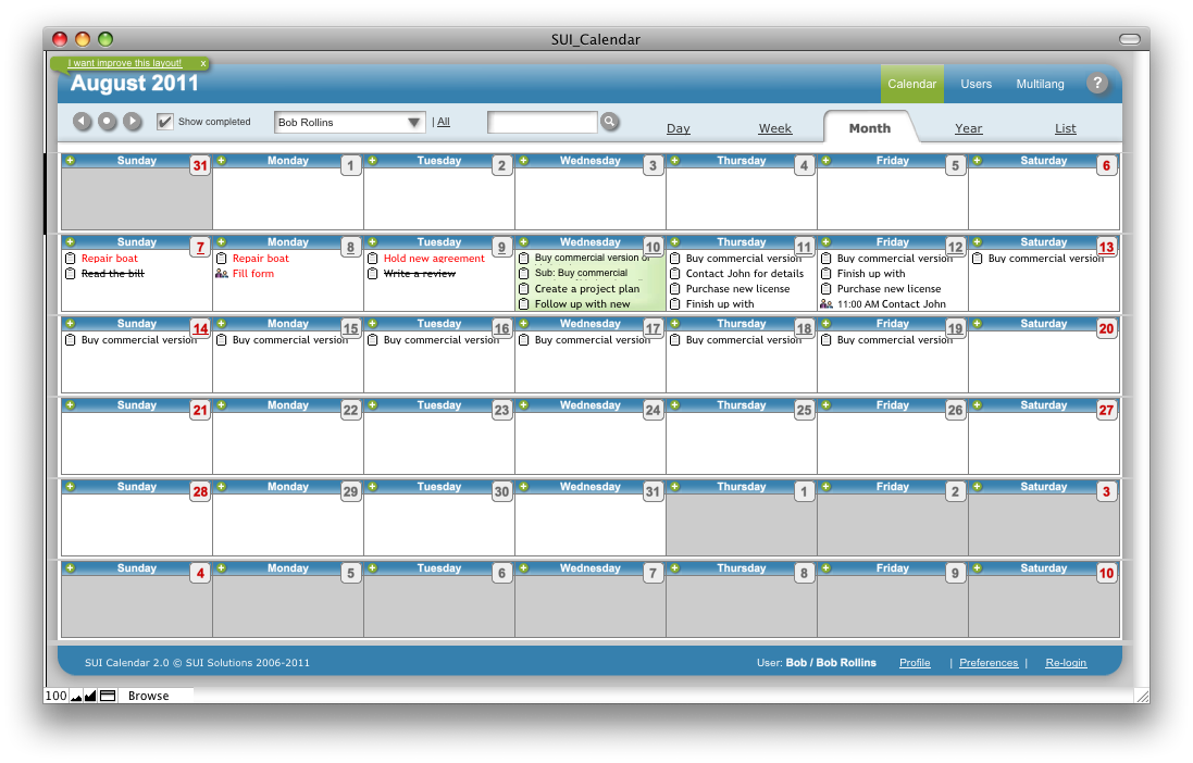 SUI Calendar A FileMaker Pro Calendar Template Available For - Software release calendar template