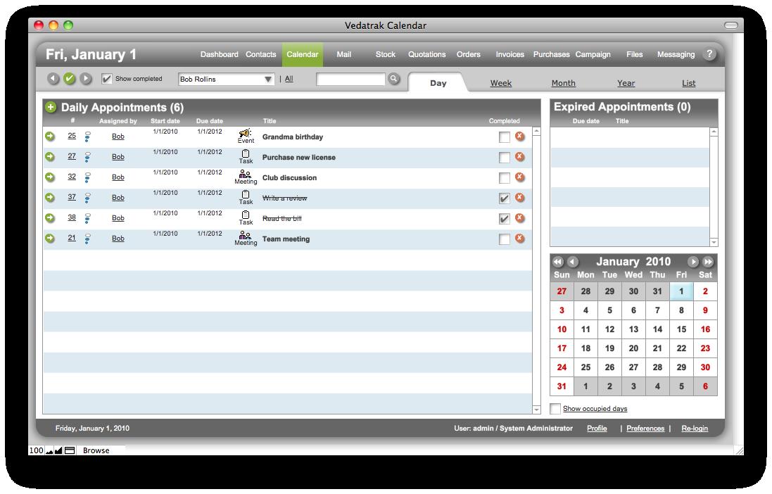 Vedatrak crm solution for filemaker pro customer database software screenshots cheaphphosting Images